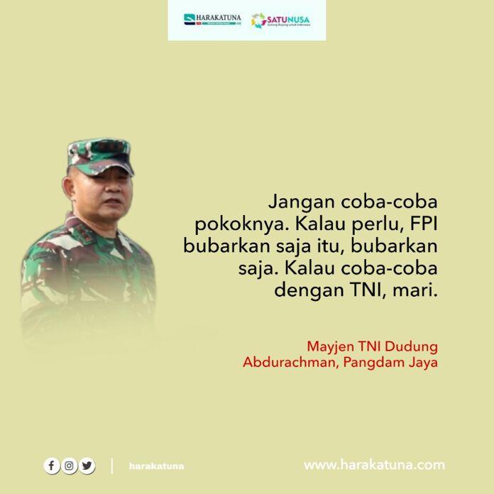 Ribut dengan TNI